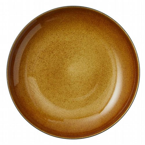 Stoneware - Giant Serving Dish 40 cm - Amber/ Black